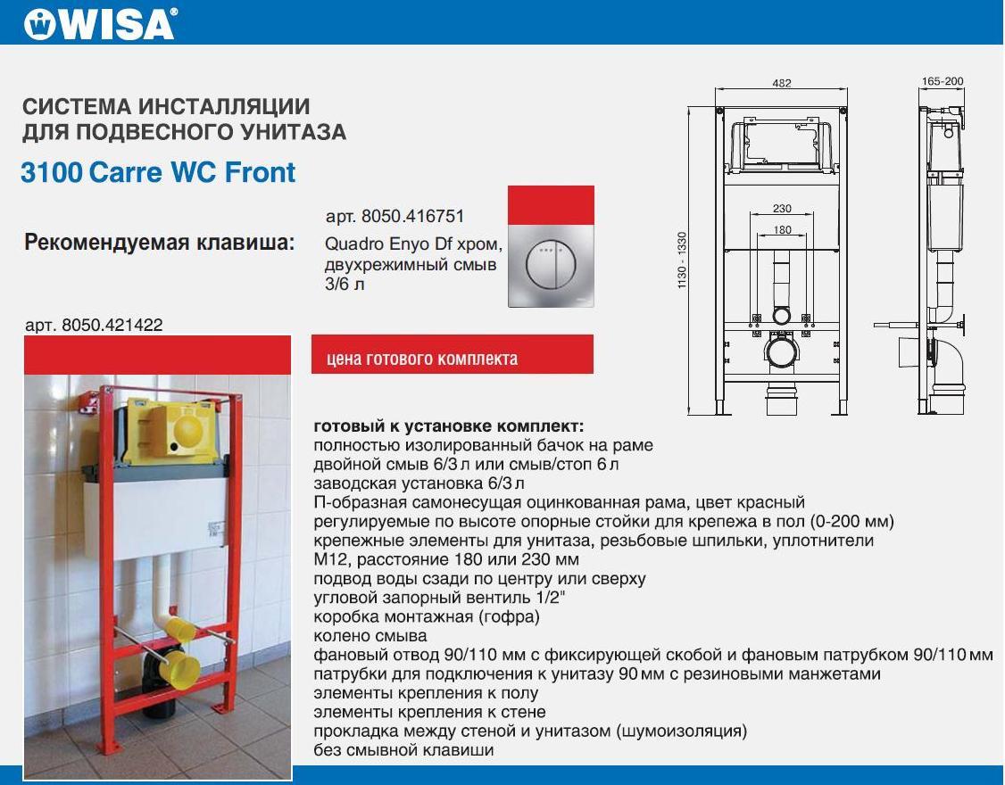 wisa 3100 carre инсталляция инструкция