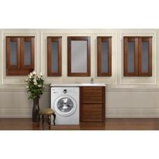 Комплект мебели под стиральную машину Deluxemebel Сканди 115 светлый орех