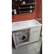 Тумба с раковиной под стиральную машину 110